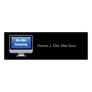 Monitor Computing Card Pack Of Skinny Business Cards