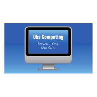 Monitor Computing Card Pack Of Standard Business Cards