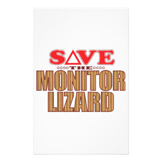 Monitor Lizard Save Personalized Stationery
