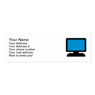 Monitor screen pack of skinny business cards