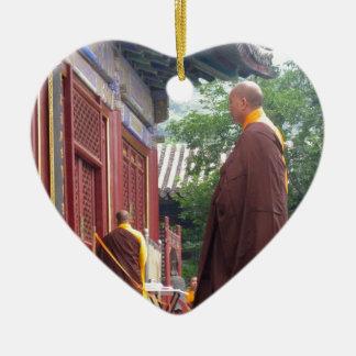 Monk Ceramic Heart Decoration