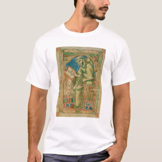 Monk Eadwine at work on the manuscript, T-Shirt