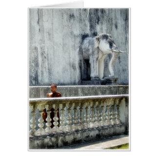 Monk & Elephant Card