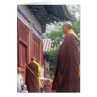 Monk Greeting Card