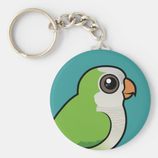 Monk Parakeet Key Ring
