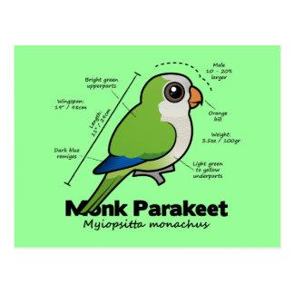 Monk Parakeet Statistics Postcard