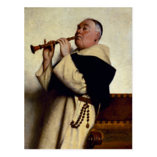 Monk Playing a Clarinet Postcard