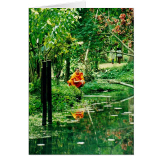 "Monk Reflecting, ""Monk Reflecting""(c) 2000 by M... Card"
