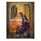 Monk Studying Scripture Postcard