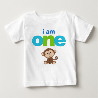 Monkey 1st Birthday Tshirt Toddler Baby Kid
