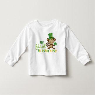 Monkey 1st St. Patrick's Day Toddler T-Shirt