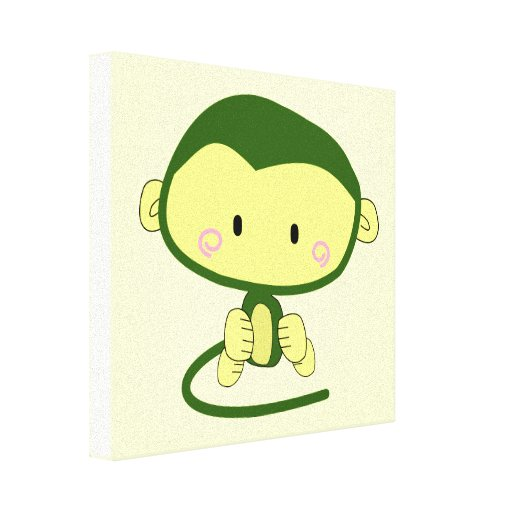 monkey-304258  monkey cartoon character cute ape i stretched canvas prints