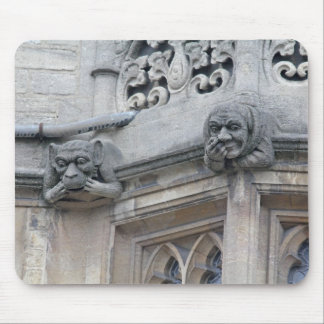 Monkey and nose-picker grotesques mousemat