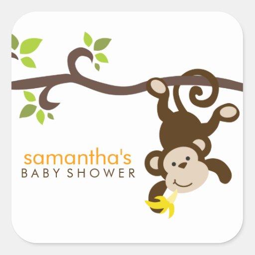 Monkey and Polka Dots Sticker