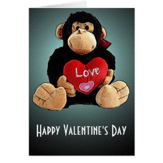 Monkey Around Valentine s Day Card
