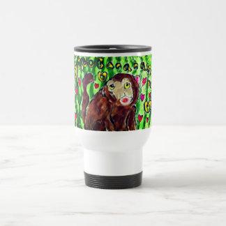 Monkey art travel mug