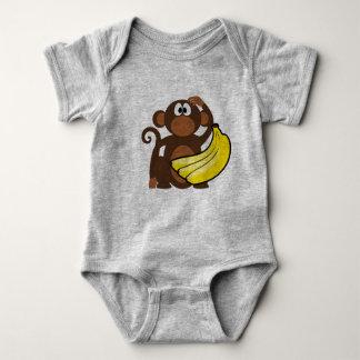 Monkey baby bodysuit