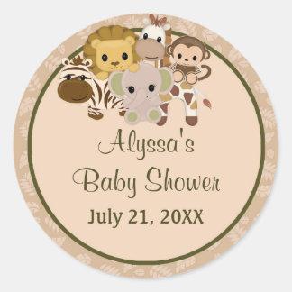 MONKEY Baby Shower blank label/seal Nali NJM #07 Round Sticker