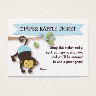 Monkey Baby Shower Diaper Raffle Ticket Insert