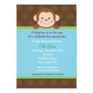 Monkey Baby Shower Invitations Boy
