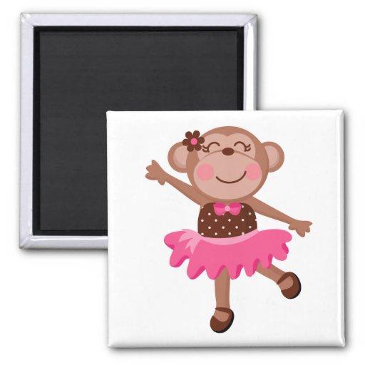 Monkey Ballerina Fridge Magnet
