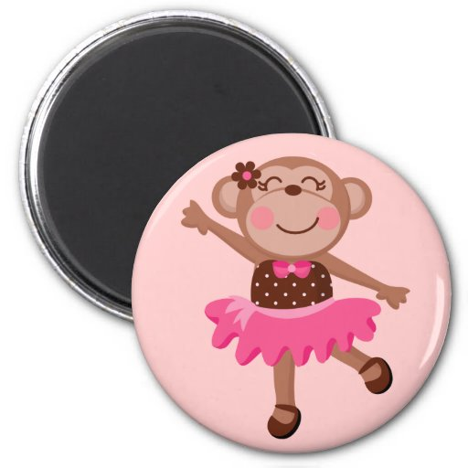 Monkey Ballerina Refrigerator Magnets