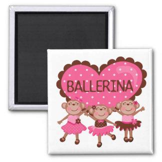Monkey Ballet Refrigerator Magnet