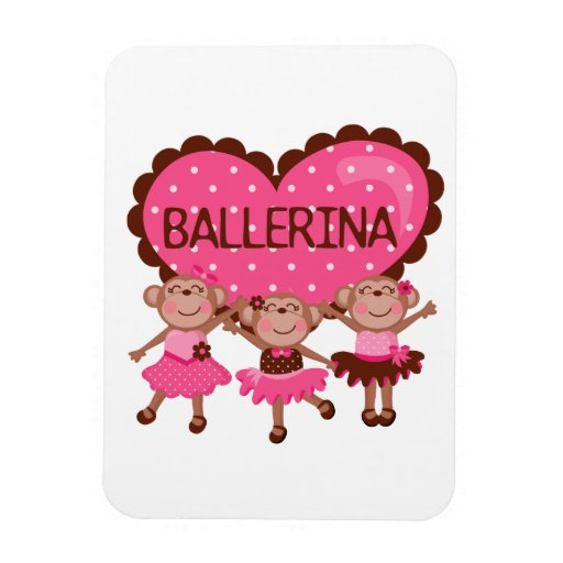 Monkey Ballet Flexible Magnet