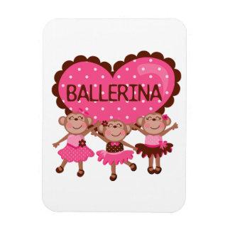 Monkey Ballet Rectangular Photo Magnet