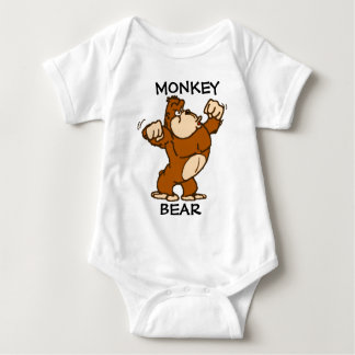 Monkey Bear Baby Bodysuit