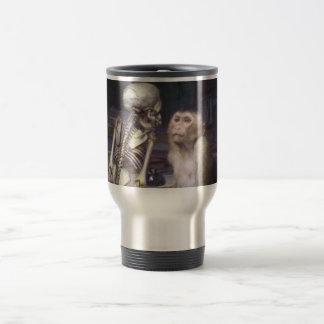 Monkey Before Skeleton Travel Mug