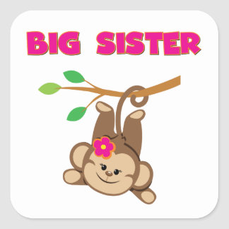 Monkey Big Sister Square Sticker