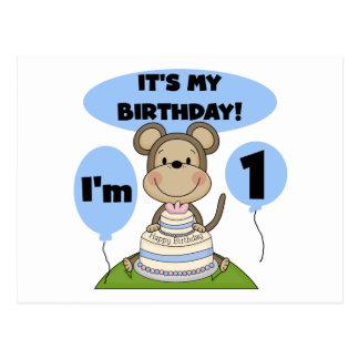 Monkey Birthday Boy 1st Post Card