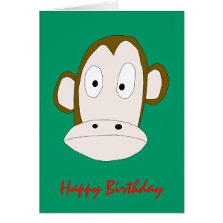 Monkey Birthday card Template