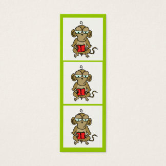 Monkey Bookmark Mini Business Card