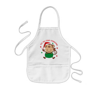 Monkey Boy 1st Christmas Aprons