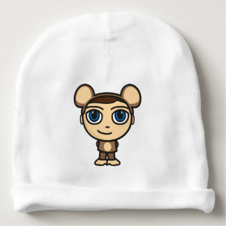 Monkey Boy Cotton Baby Beanie Hat