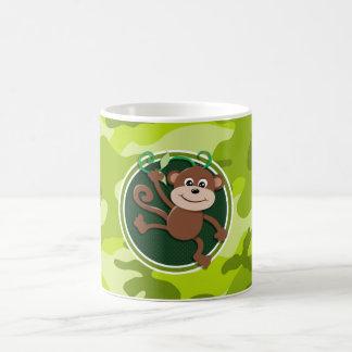 Monkey; bright green camo, camouflage mugs