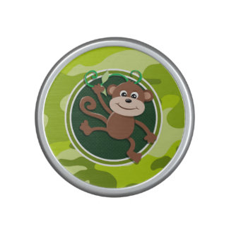 Monkey; bright green camo, camouflage speaker