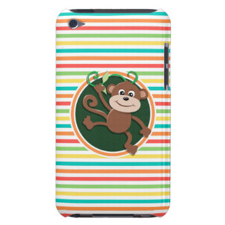 Monkey Bright Rainbow Stripes iPod Touch Covers
