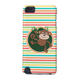 Monkey Bright Rainbow Stripes iPod Touch (5th Generation) Case