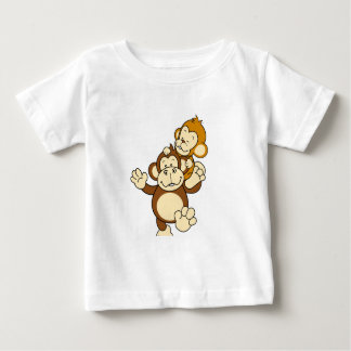 Monkey Brothers Baby T-Shirt