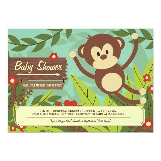 Baby Shower Gifts Nz ~ Monkey business baby shower invites zazzle