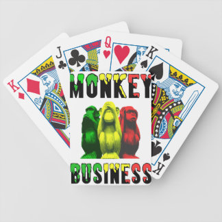 Monkey business bicycle playing cards