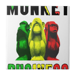 Monkey business ceramic tile