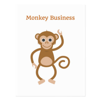 Monkey Business Cheeky Postcard Greeting Card
