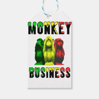 Monkey business gift tags