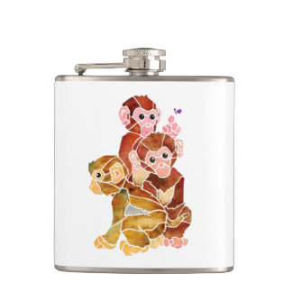 """Monkey Business"" Hip Flask"