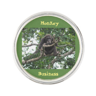 Monkey Business Lapel Pin