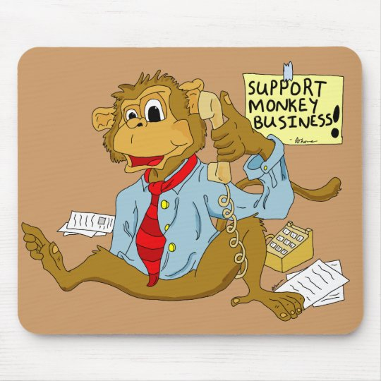Monkey Business Mousepad